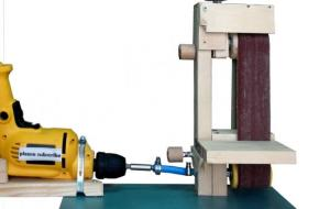 _Drill Powered Belt Sander making